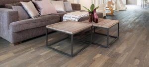Parket Multi plank met een massief houten toplaag.